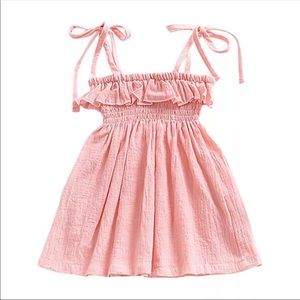 Cute infant girl  summer spring Easter